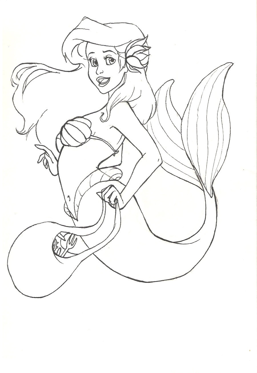 Free Printable Little Mermaid Coloring