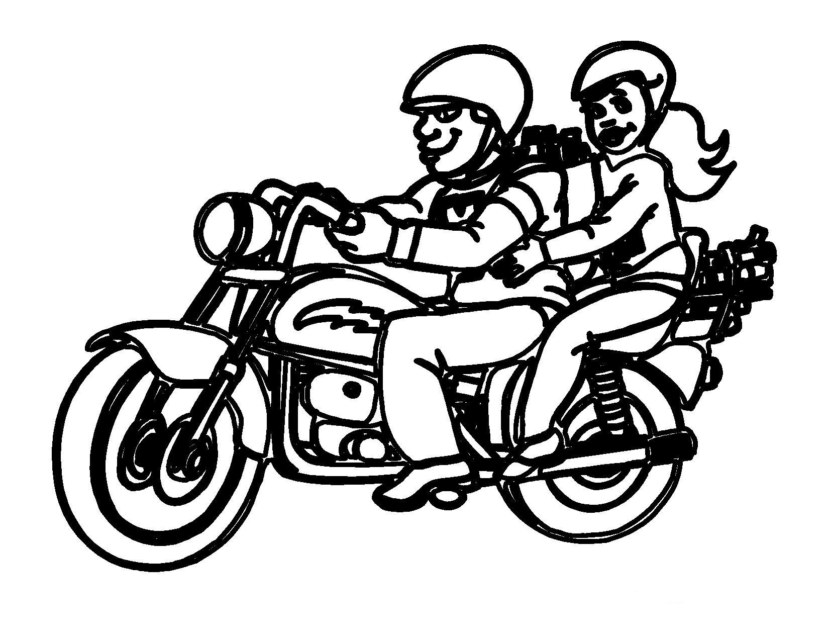 free biker coloring pages - photo#6