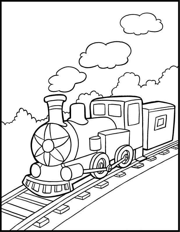 coloring pages trains preschoolers development - photo#8
