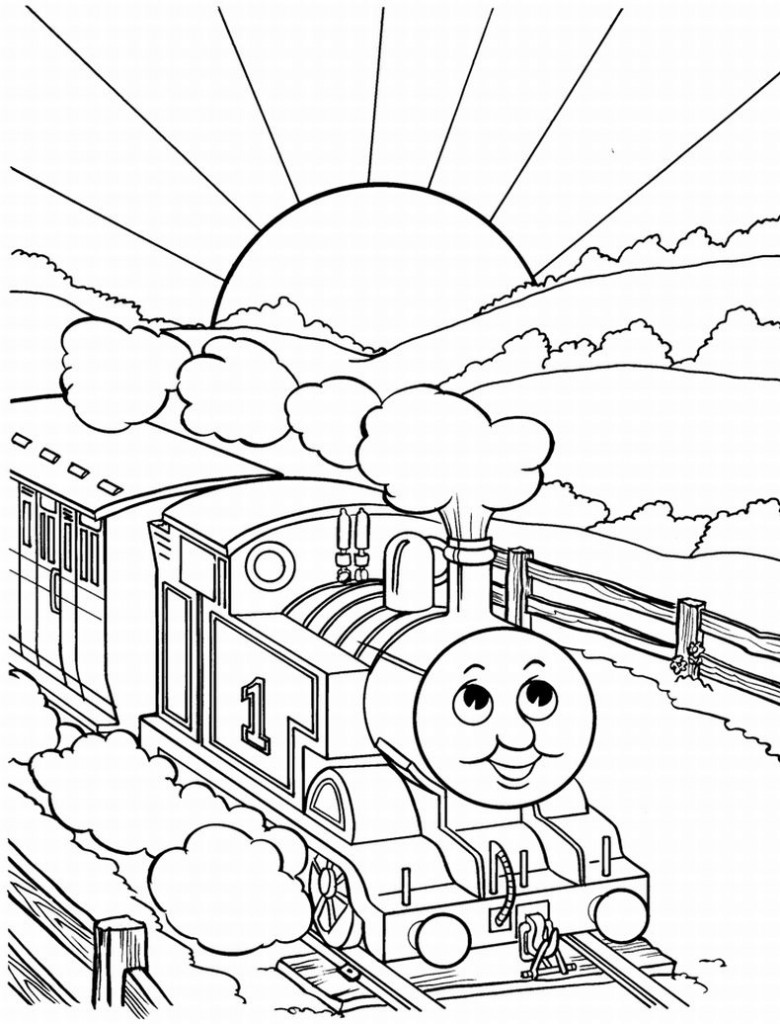 thomas the train color page free printable train coloring pages for kids
