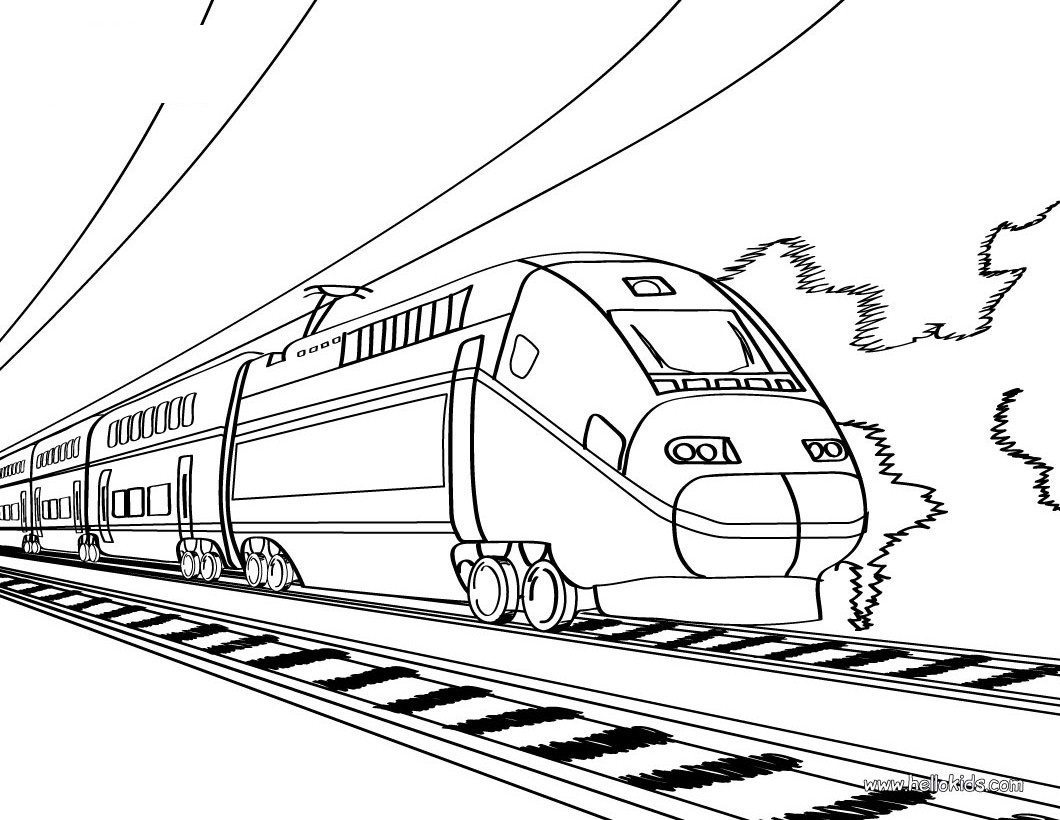 Coloring pages trains for kids - Thomas The Train Coloring Pages Online