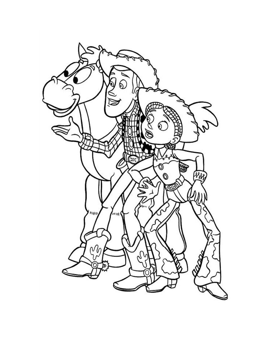 coloring pages of woody - photo#35