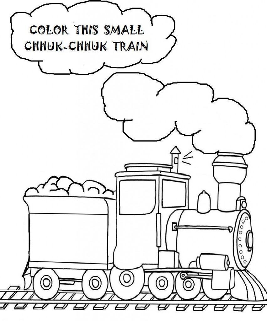 printable coloring pages of trains - photo#34