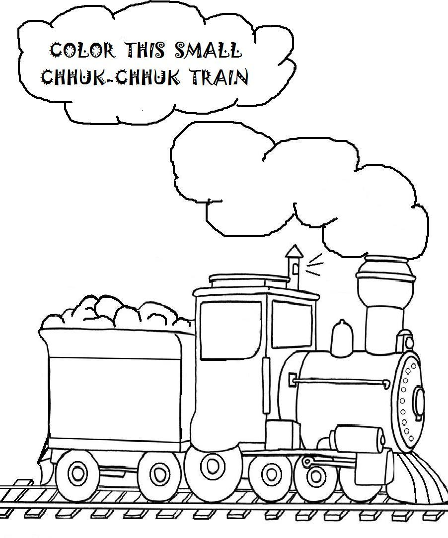free printable train coloring pages for kids