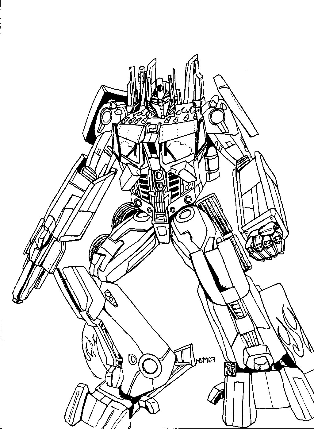 transformer coloring pages free - photo#23