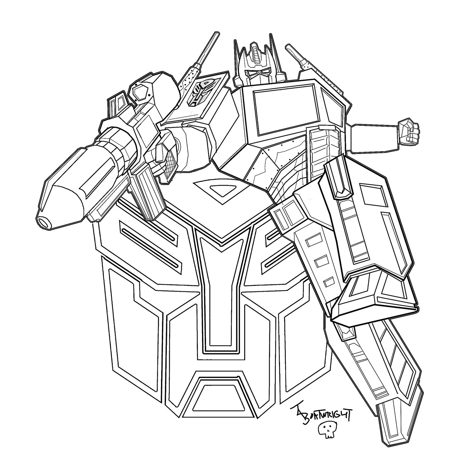 transformers cloring page - Optimus Prime Face Coloring Pages