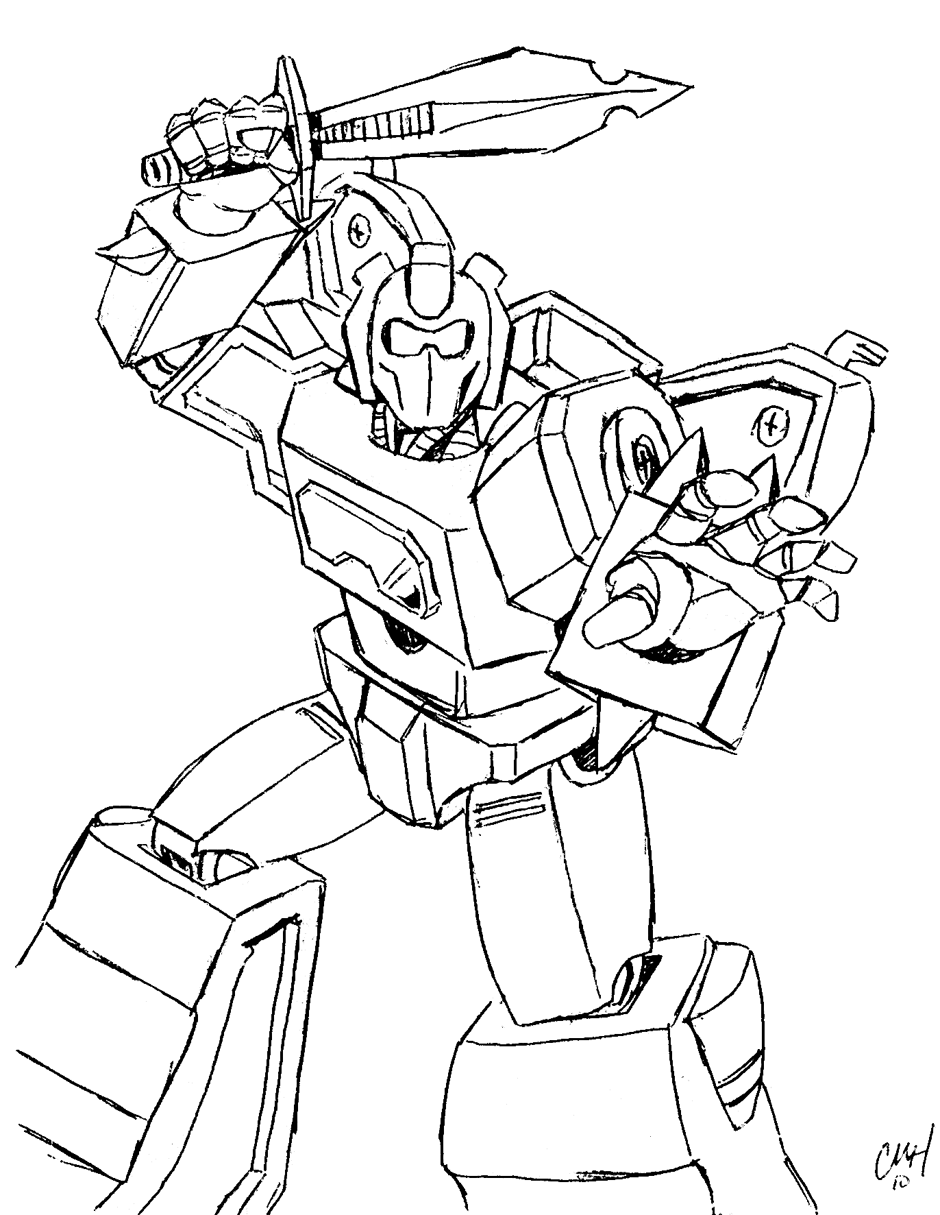 transformer coloring pages free - photo#2