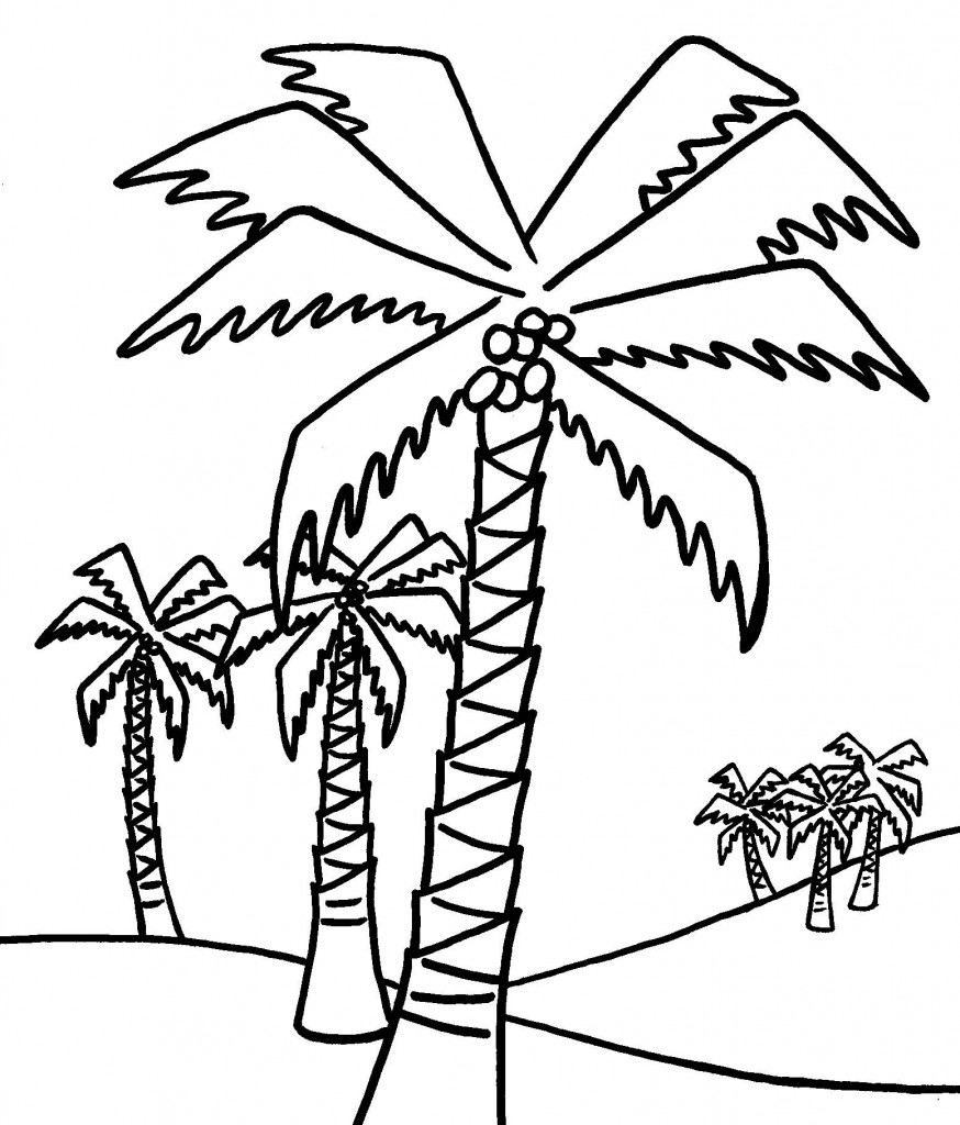 Tree Coloring Pages Kids