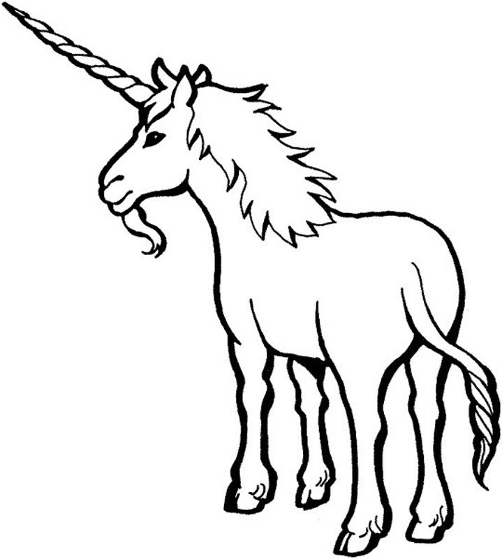 childrens coloring pages unicorn - photo#7