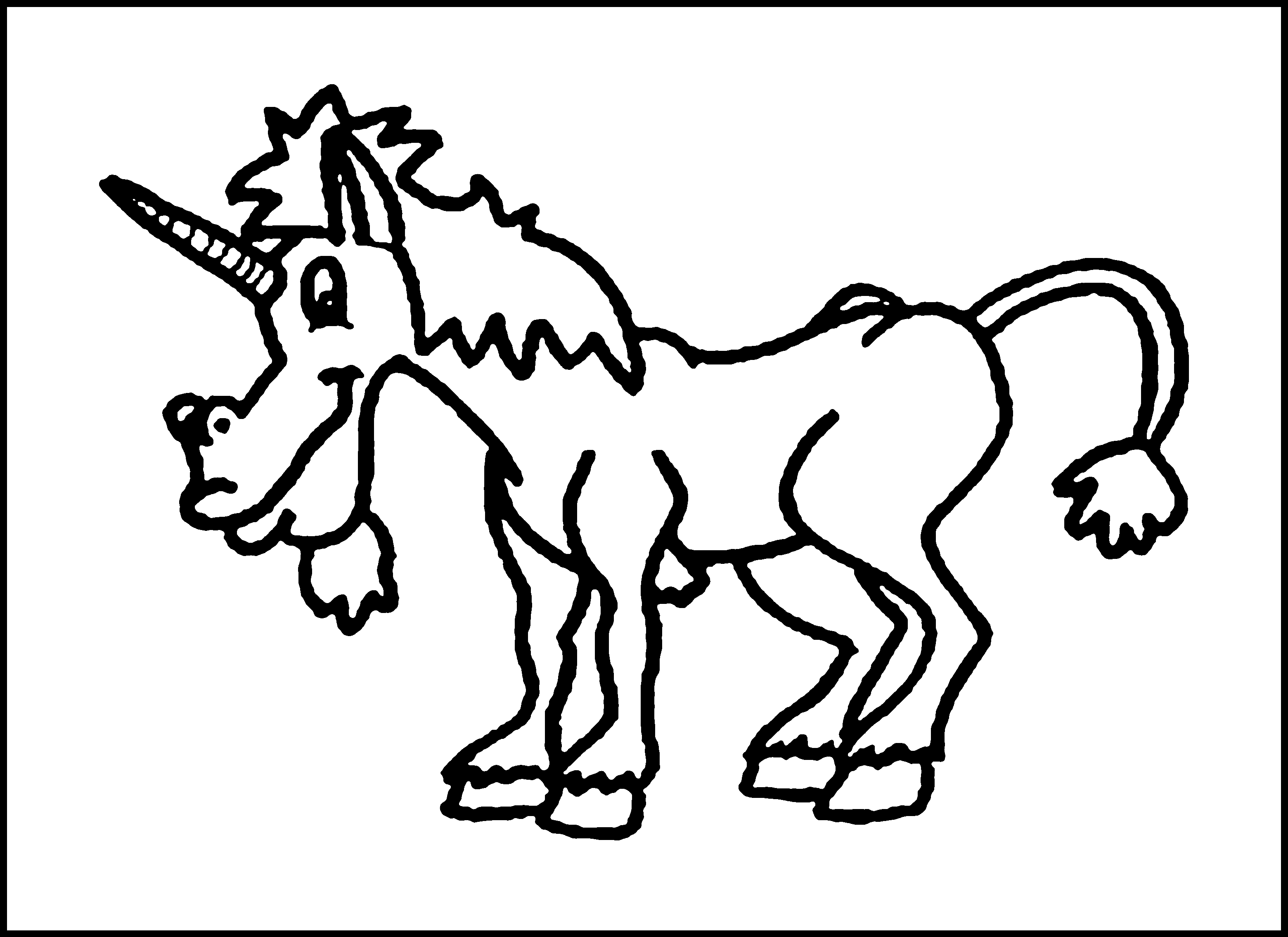 Free printable coloring pages unicorns - Unicorn Coloring Pages Online