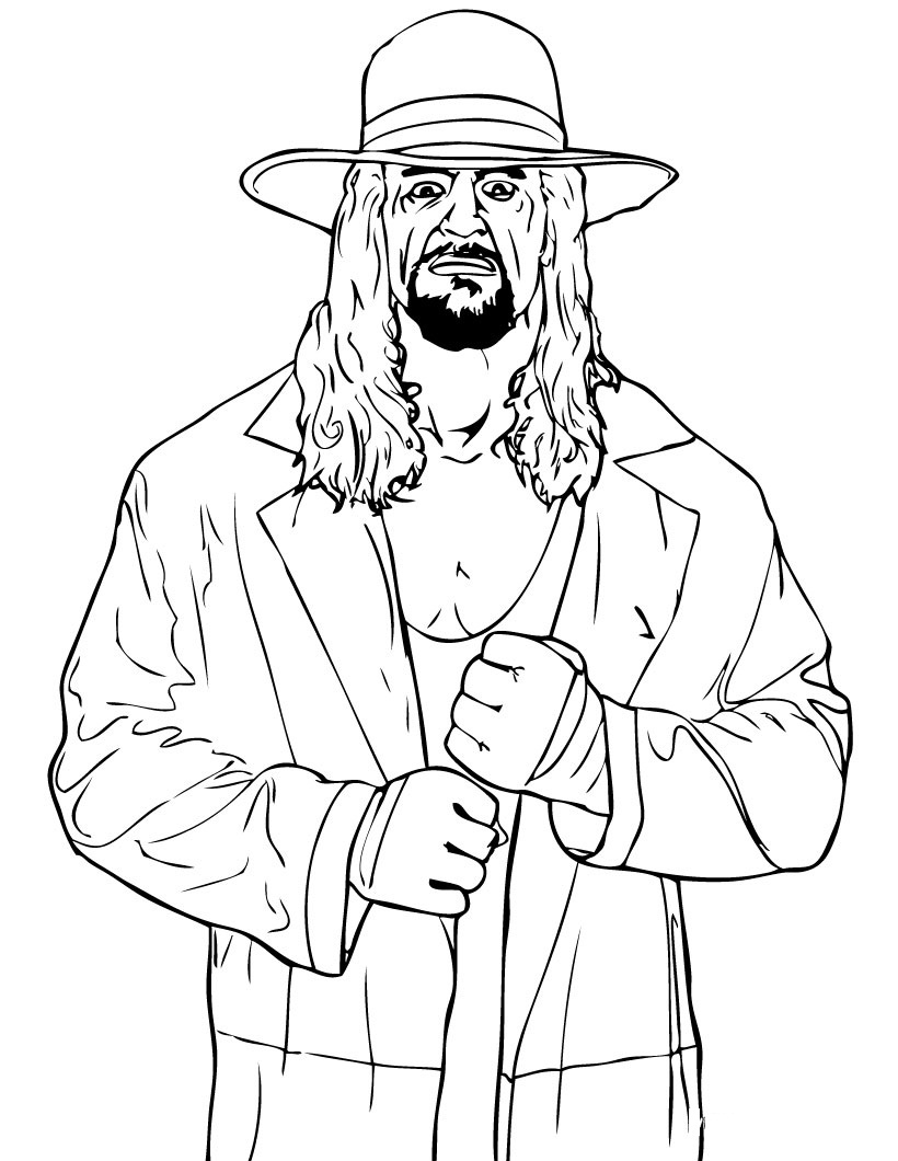 Colouring pages with colour - Wwe Color Pages
