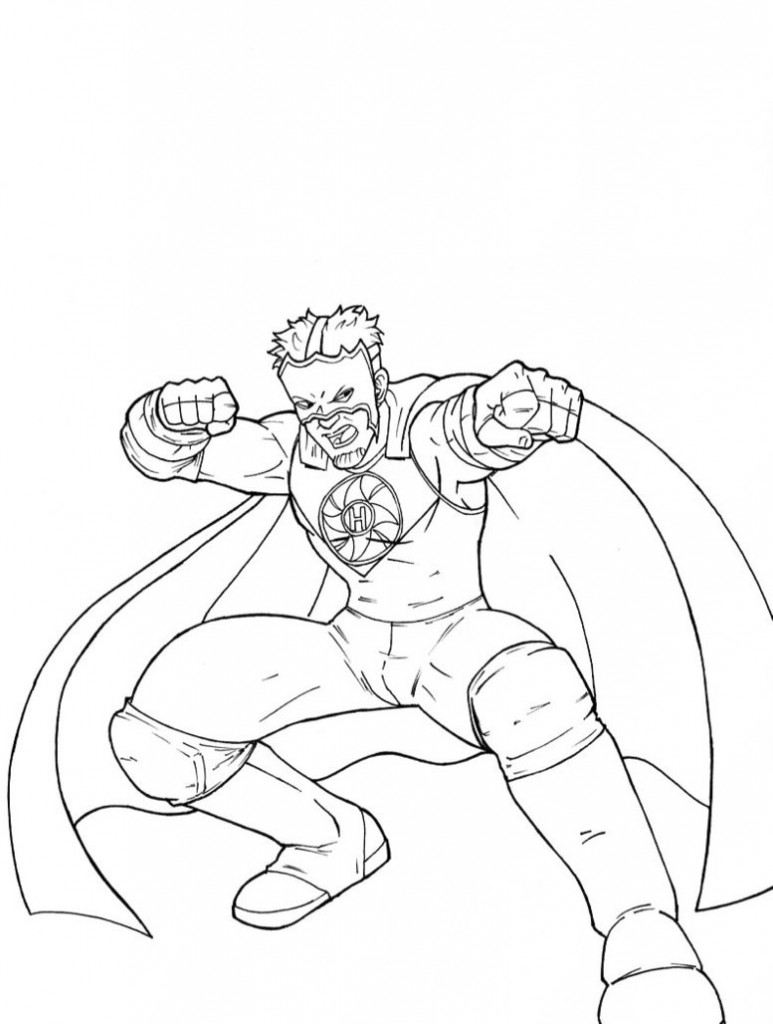 coloring pages wwe - photo#24