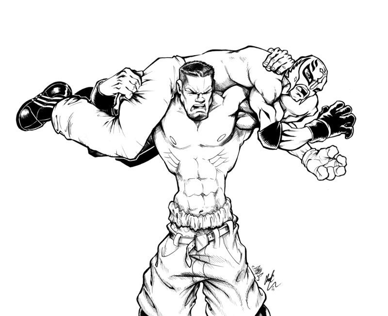 coloring pages wwe - photo#35