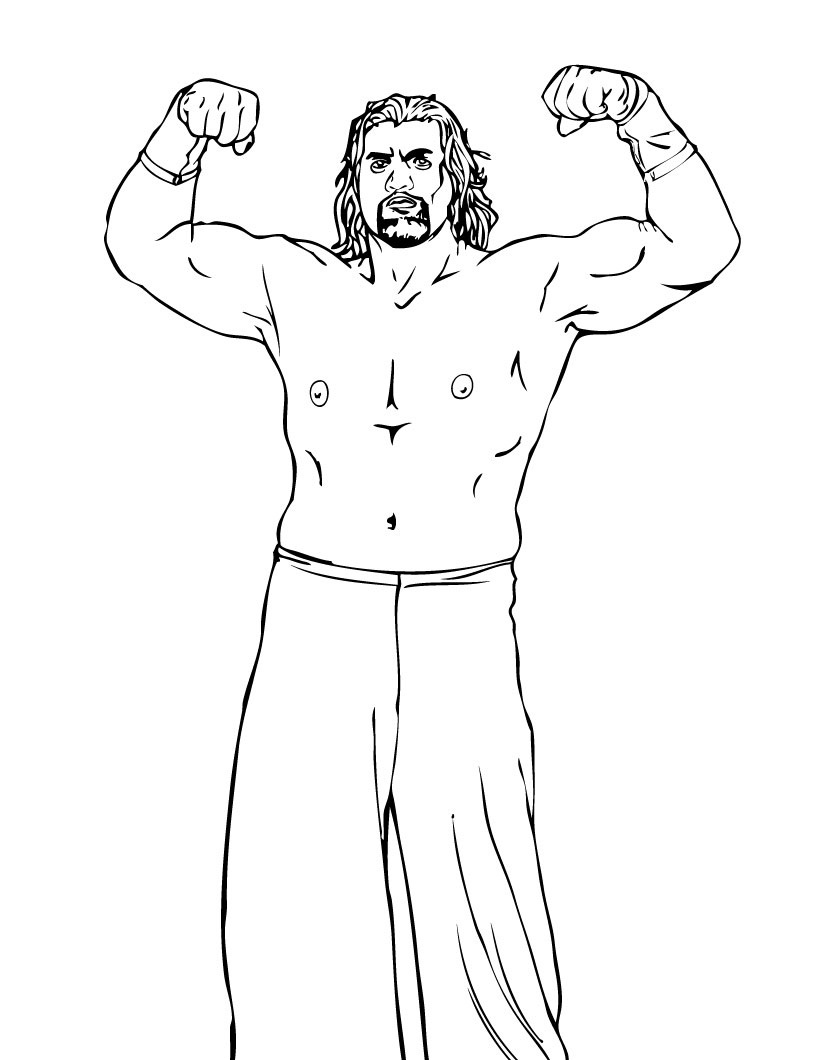 Wwe coloring games online - Wwe Coloring Pages Printable