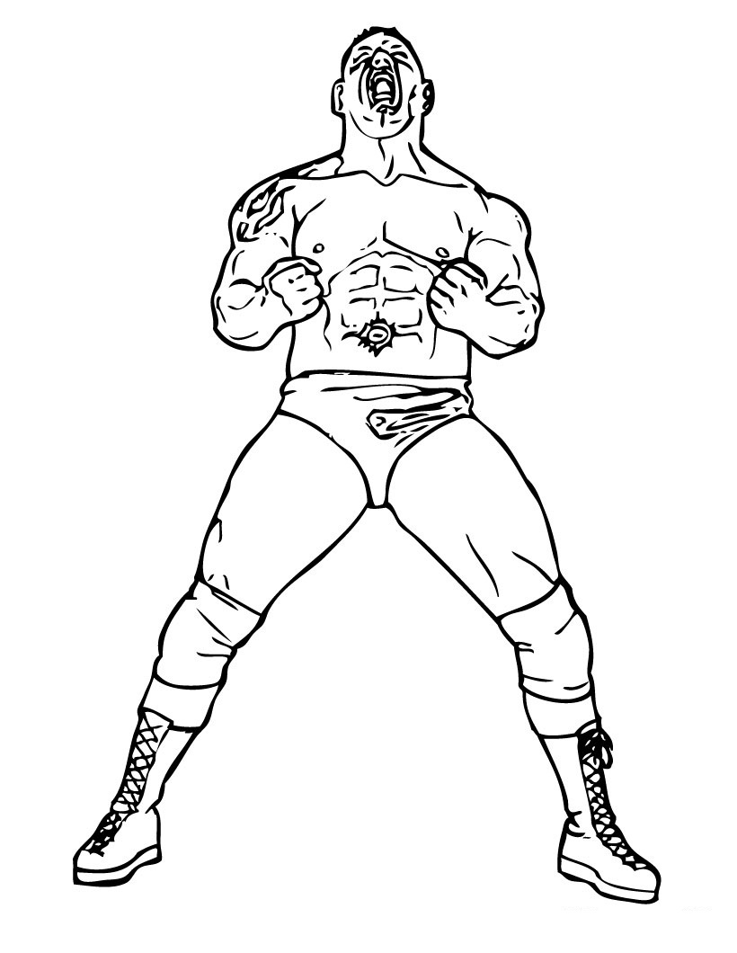 Coloring Pages Wrestling Color Pages free printable wwe coloring pages for kids wrestlers pages