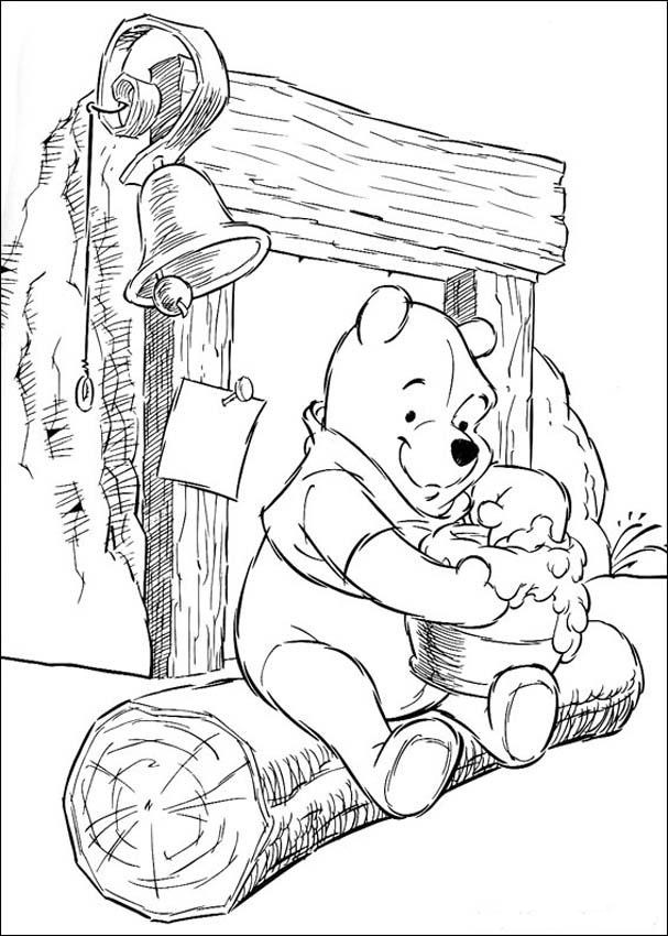 Printable Coloring Pages Characters : Free printable winnie the pooh coloring pages for kids