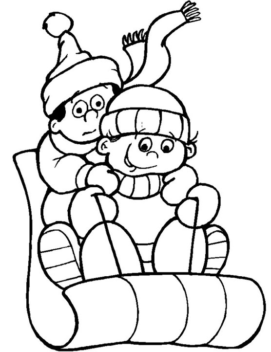 winter coloring pages for kids - Printable Coloring For Kids