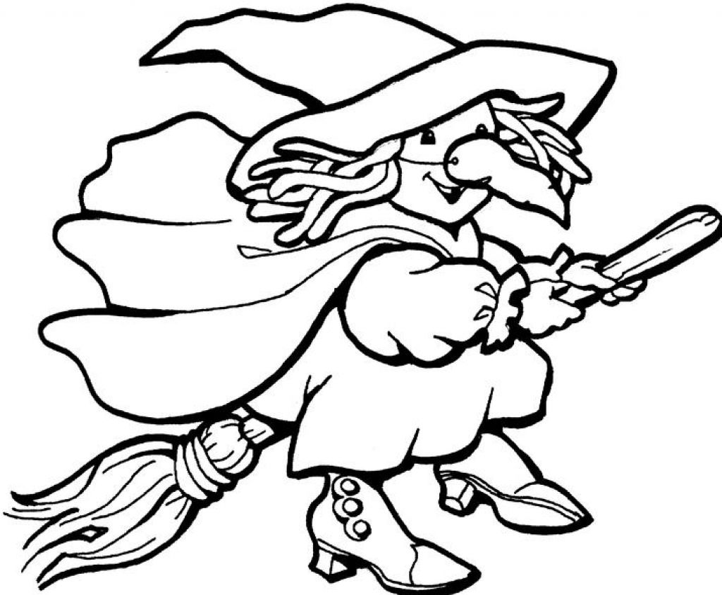 halloween witch coloring pages - photo#12