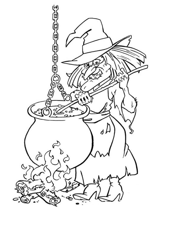 halloween witch coloring pages - photo#3