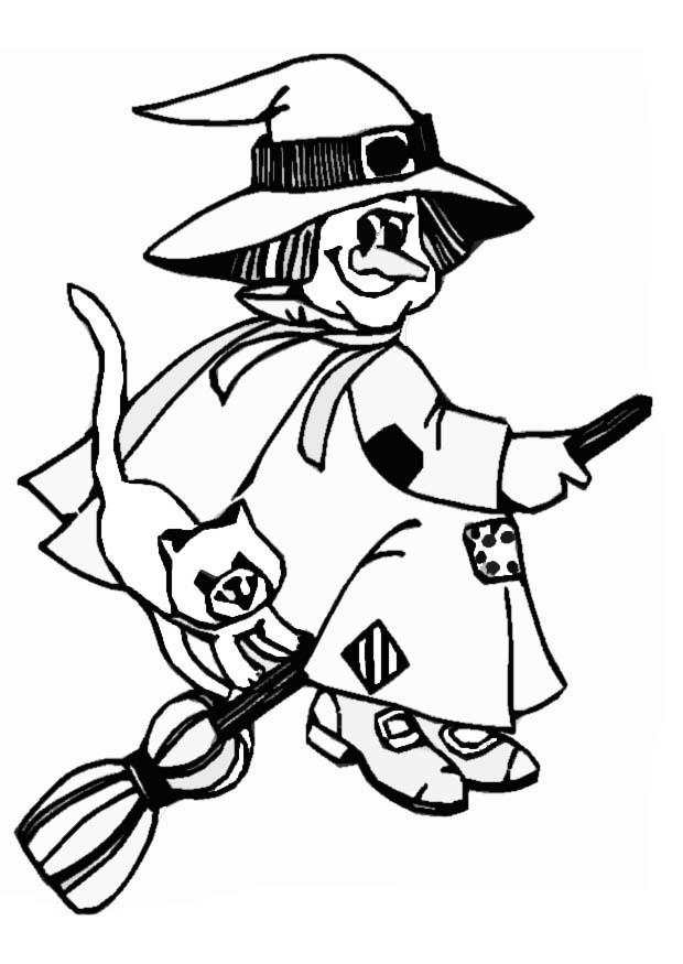 halloween witch coloring pages - photo#21