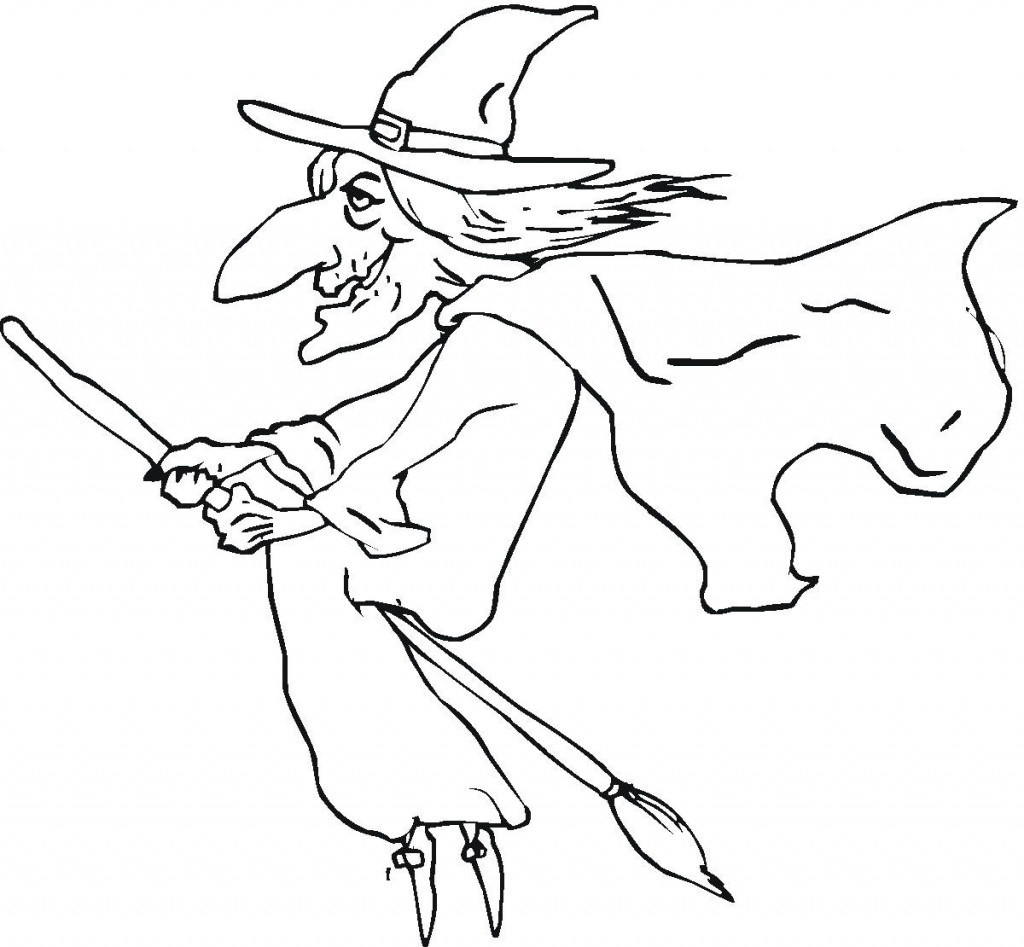 Witch Coloring Pages Printable For Kids