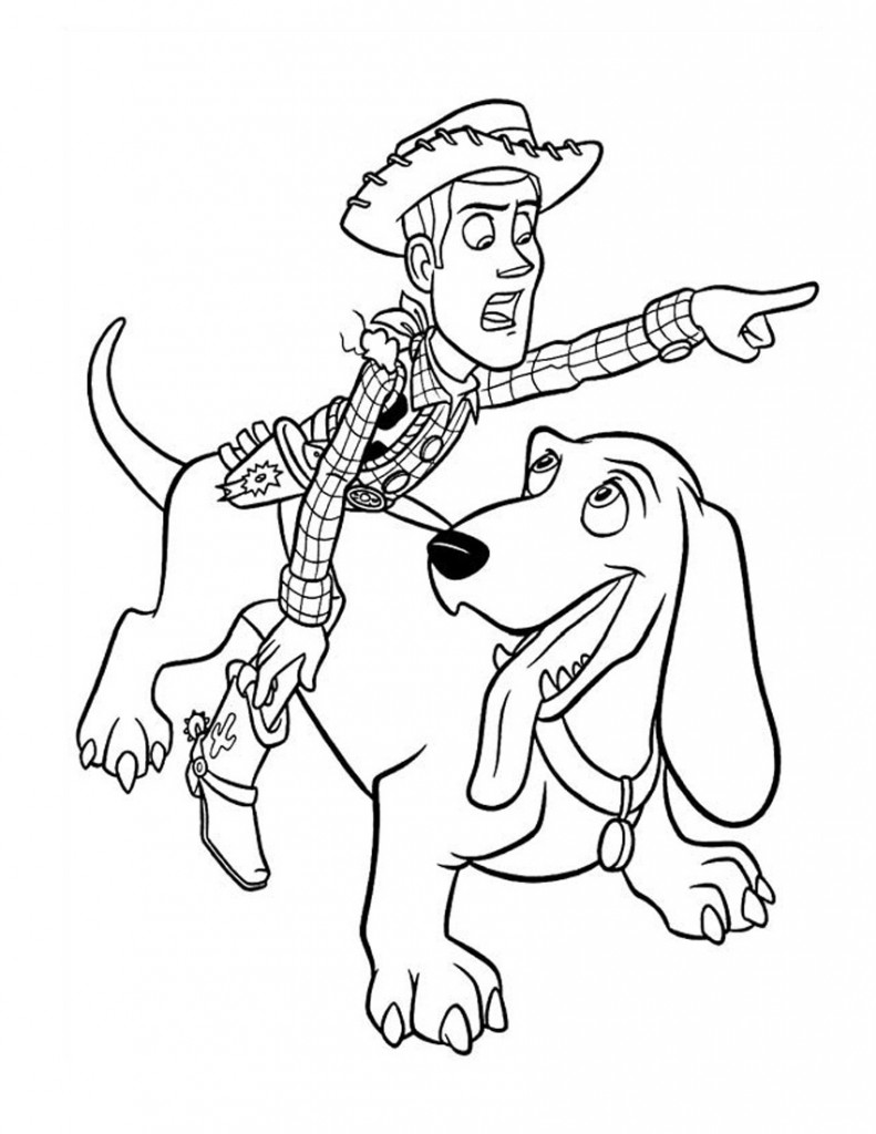 Woody From Toy Story Coloring Pages