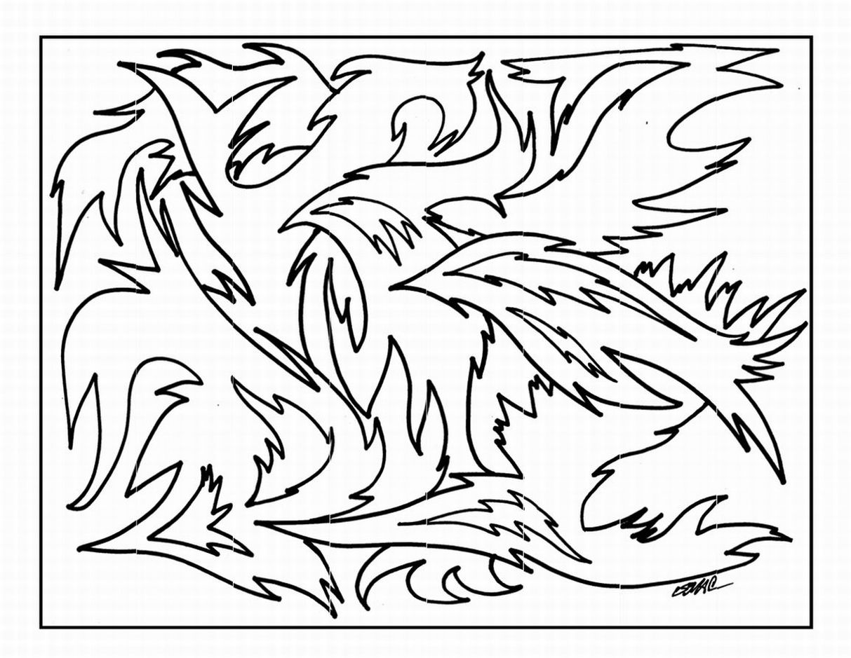abstract art coloring pages - Coloring Pages Abstract Printable