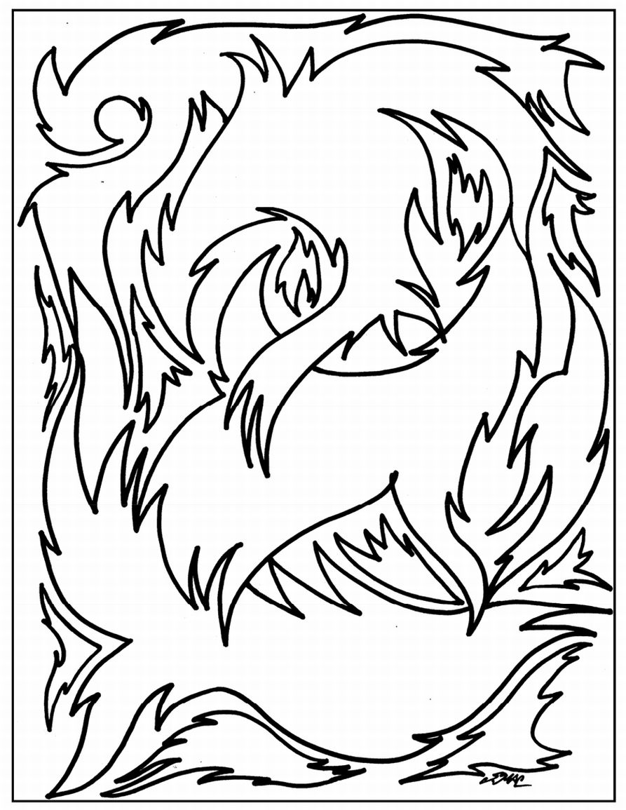abstract coloring page - Coloring Pages Abstract Printable