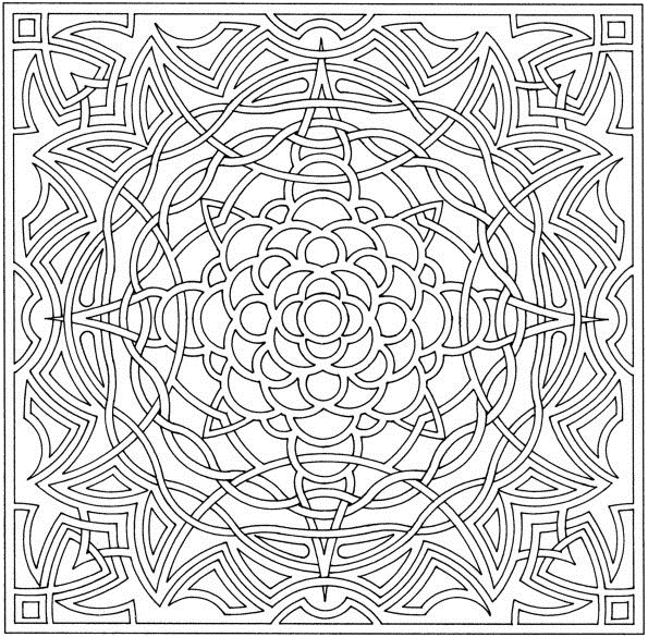 Abstract Cross Coloring Pages : Free printable abstract coloring pages for kids