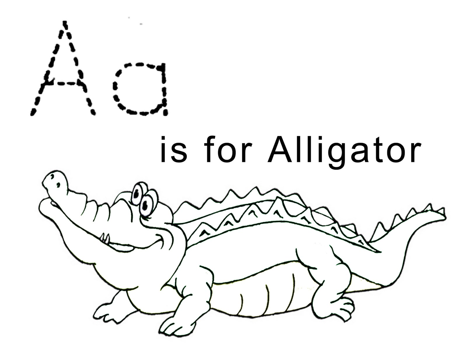 alligator coloring page - A Colouring Pages