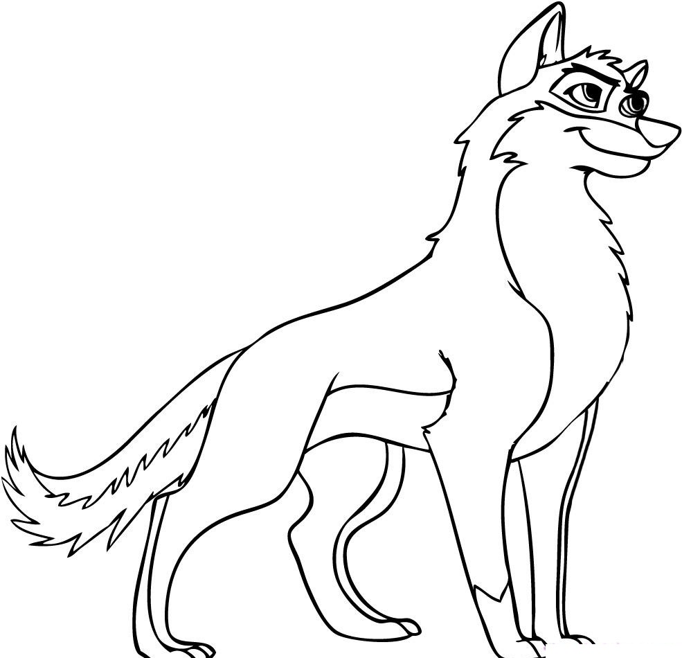 Colouring pages wolf - Anime Wolf Coloring Pages