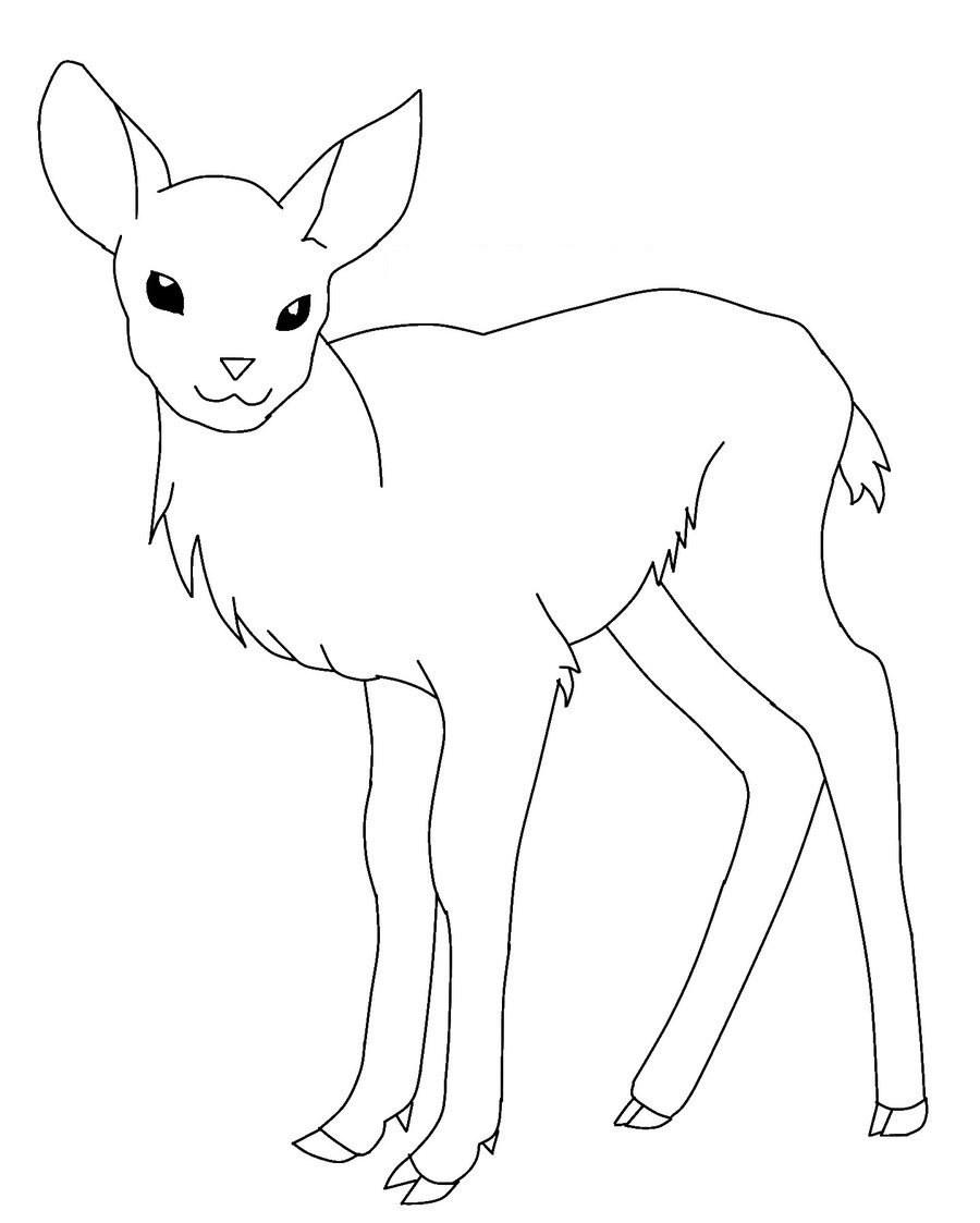 The gruffalo colouring pages to print - Baby Deer Coloring Pages