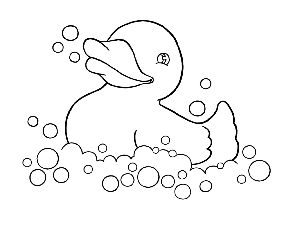 Free coloring pages for kindergarten printable - Baby Duck Coloring Pages