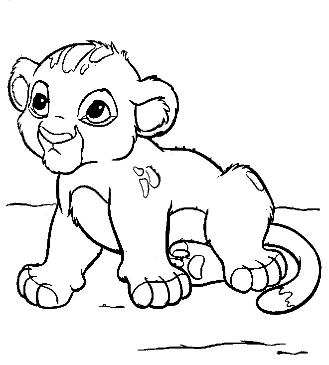 baby lion coloring pages - Coloring Page Lion
