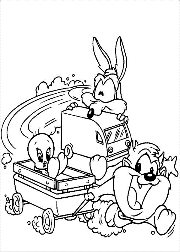 baby loony tunes coloring pages - photo#14