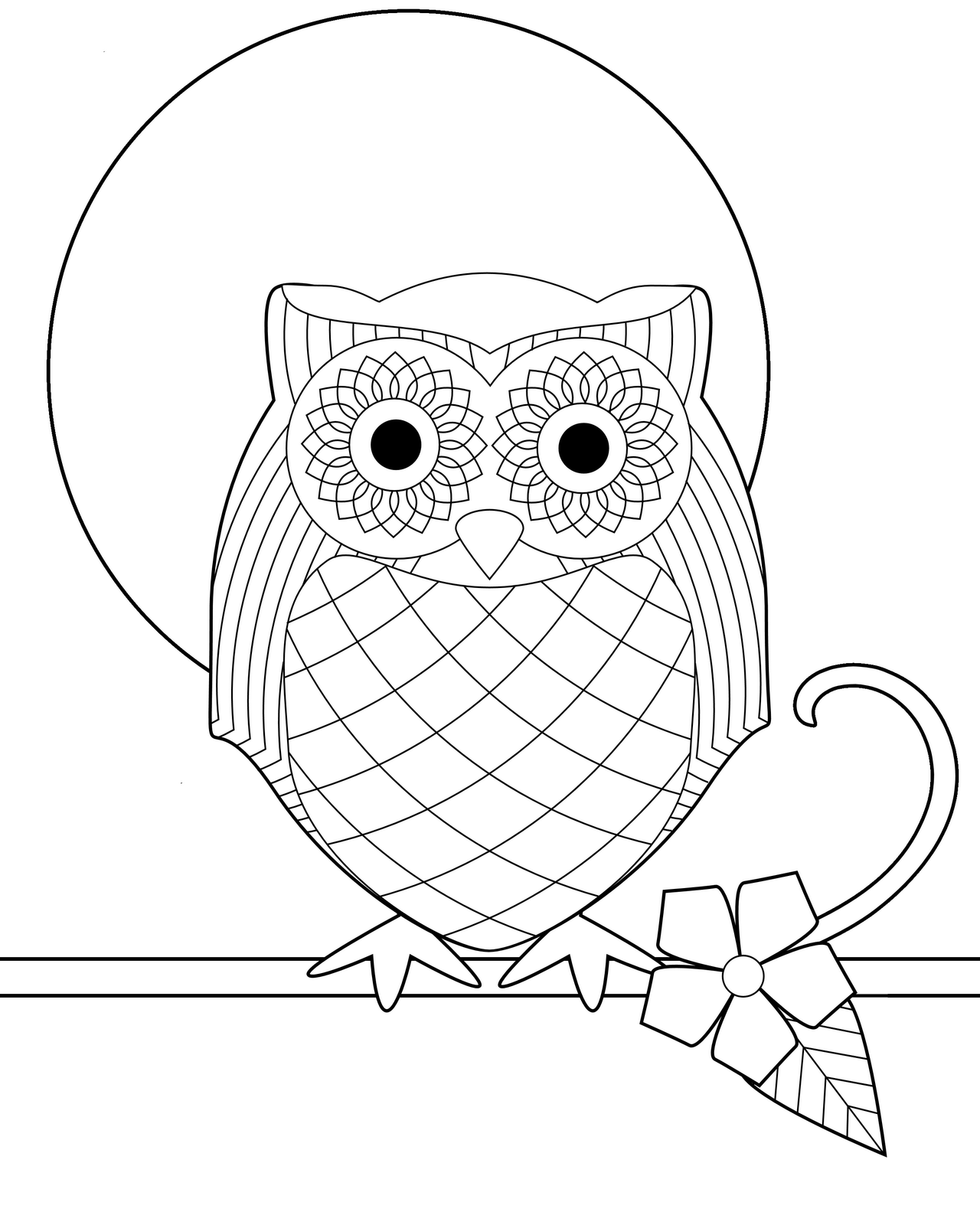 baby owl coloring pages - Cute Owl Printable Coloring Pages