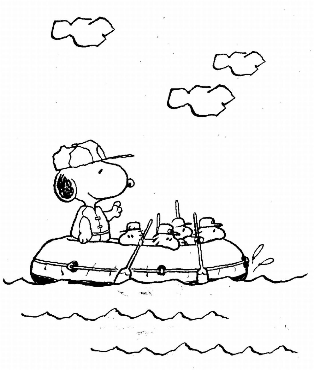 snoopy coloring page free printable snoopy coloring pages for kids