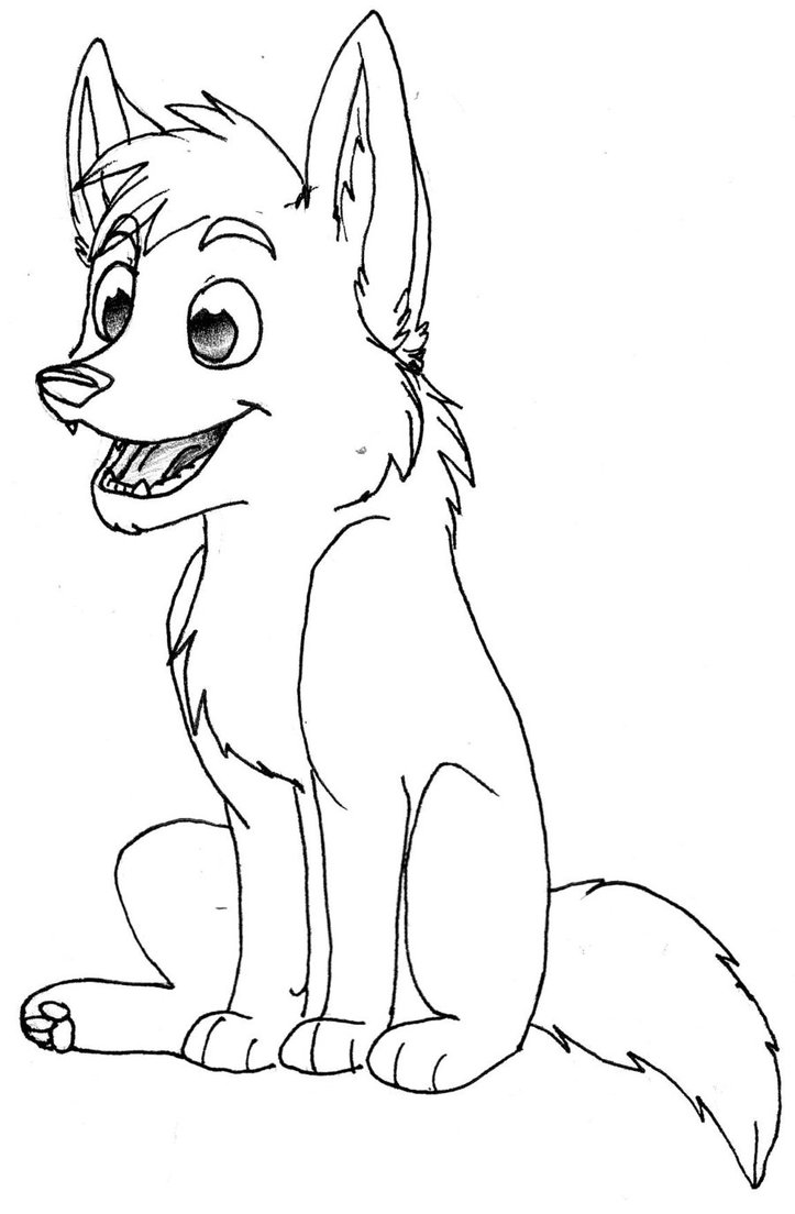 Colouring pages wolf - Baby Wolf Coloring Pages