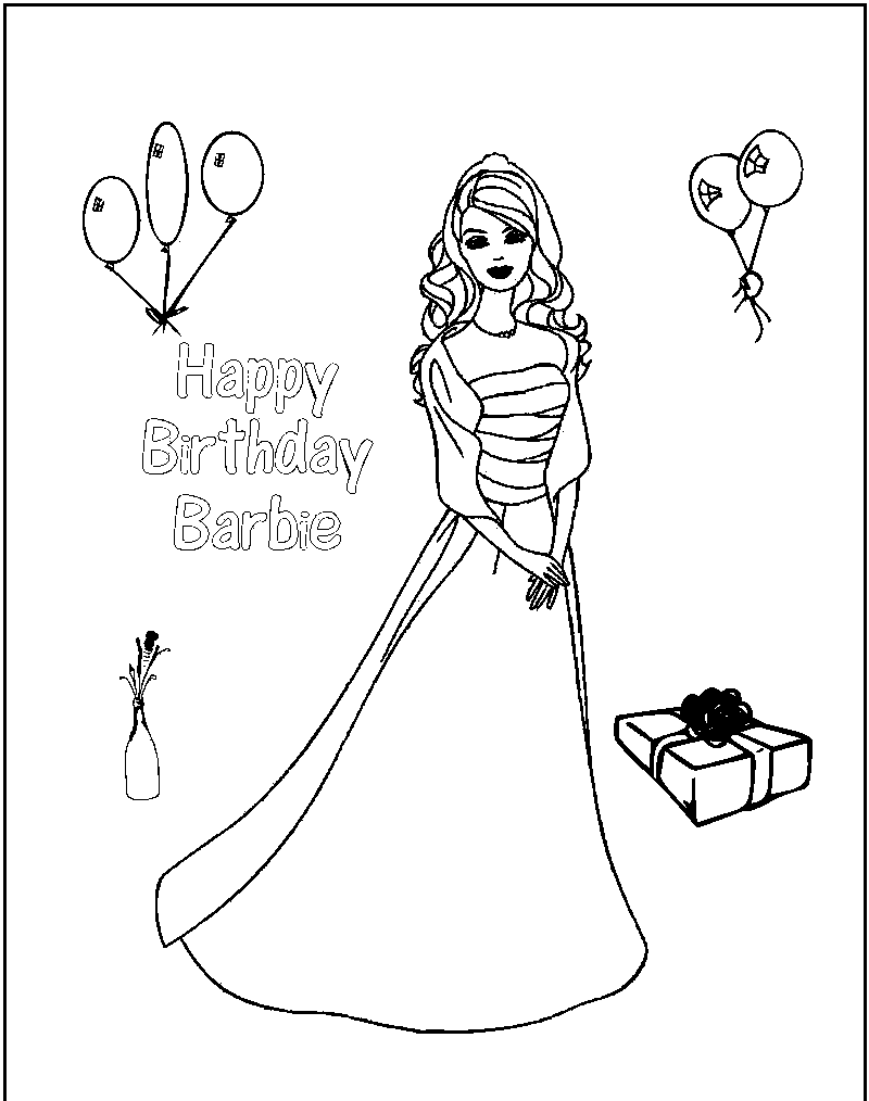 free printable barbie coloring pages for kids