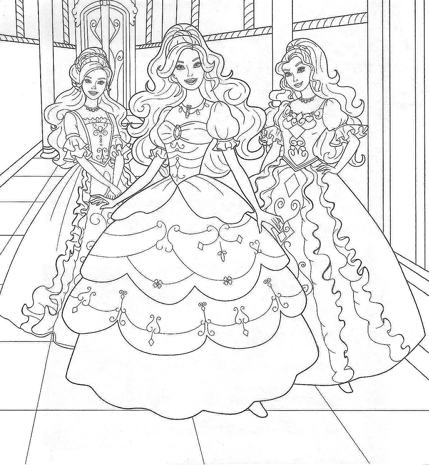 Free printable coloring pages barbie princess - Barbie Coloring Page