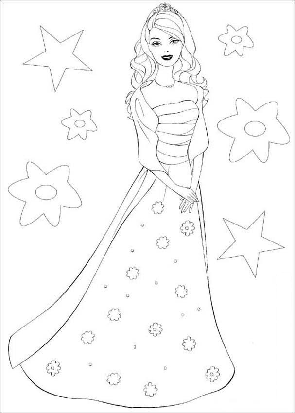 barbie coloring pages for kids - Kids Painting Book