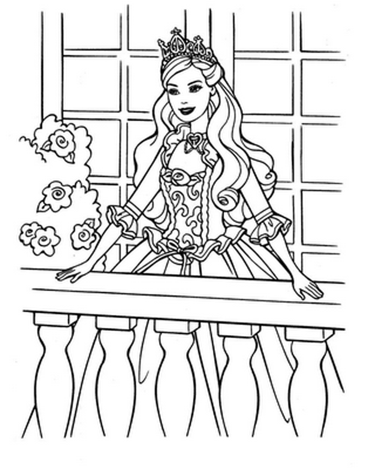 Free Printable Barbie Coloring