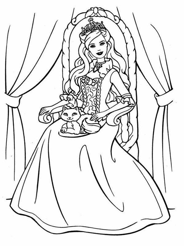 barbie coloring pages for free - photo#14