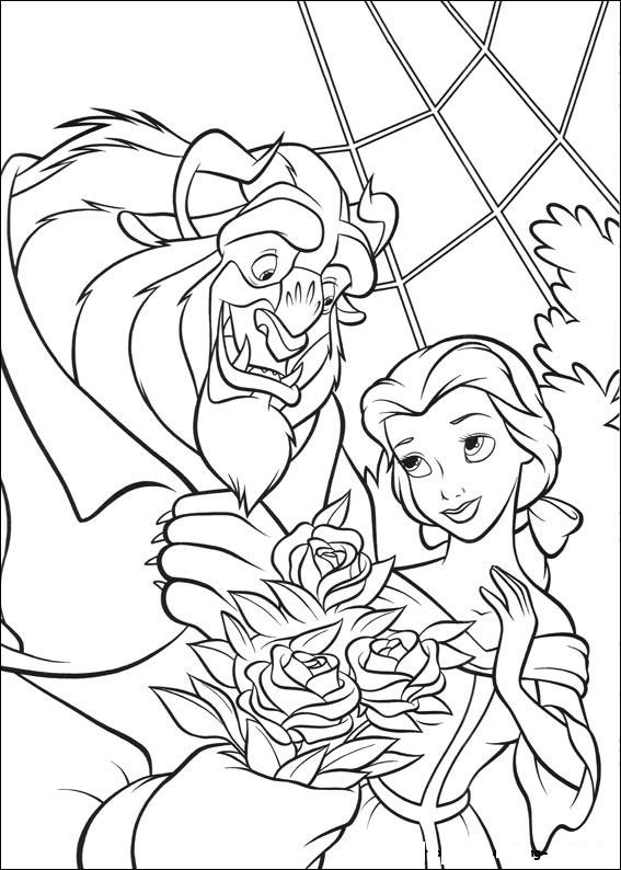 Free Colouring Pages Beauty And The Beast : Free printable beauty and the beast coloring pages for kids
