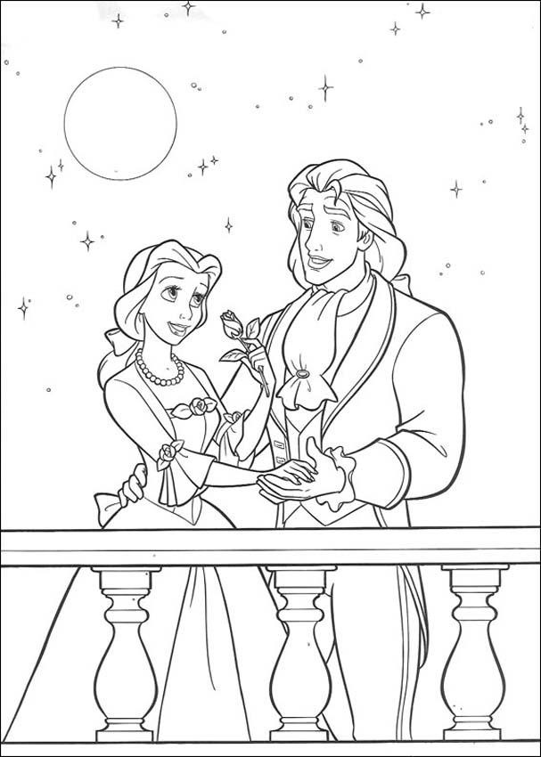 beast disney coloring pages - photo#16
