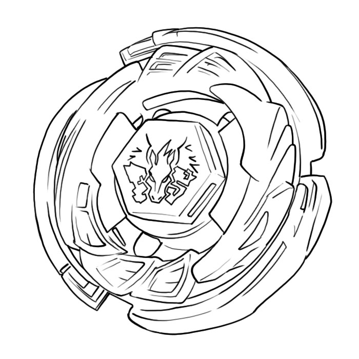 Beyblade Pegasus Coloring Pages