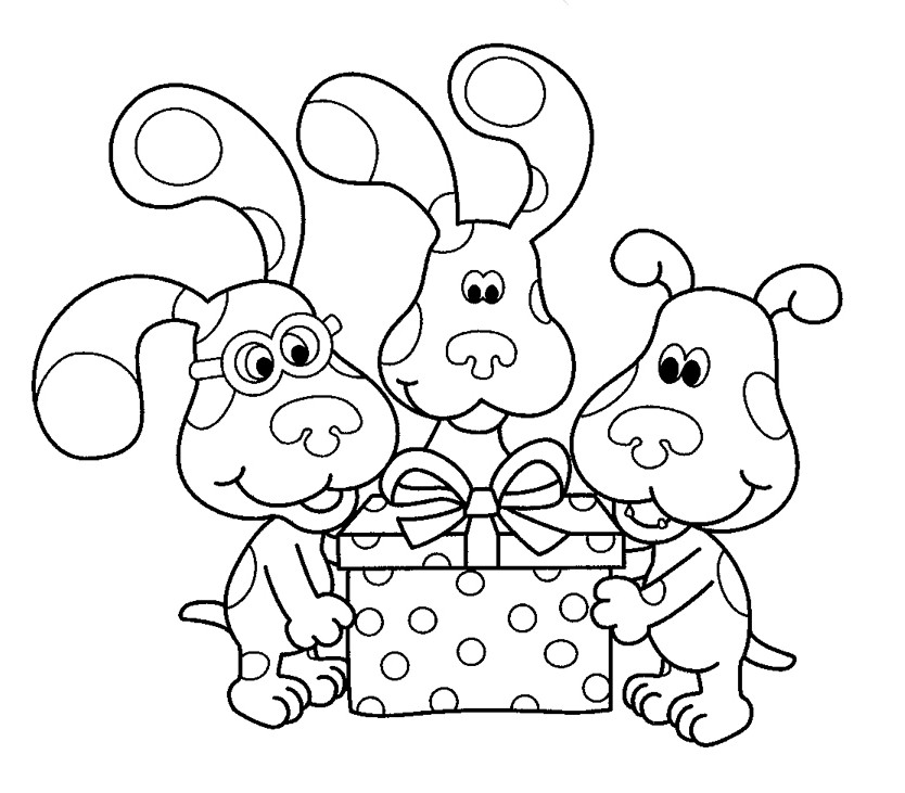 blues clues thanksgiving coloring pages - photo#7