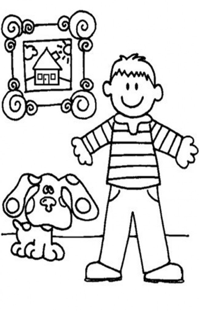 blues clues coloring pages steve