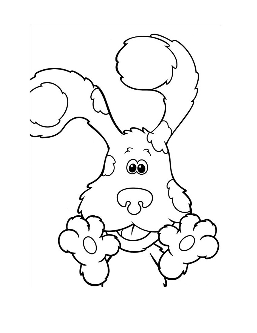 Free Printable Blues Clues Coloring Pages For Kids Blues Clues Coloring Pages