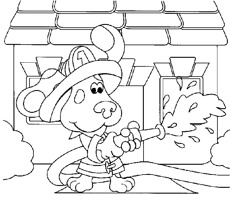blues clues coloring pages online - photo#9